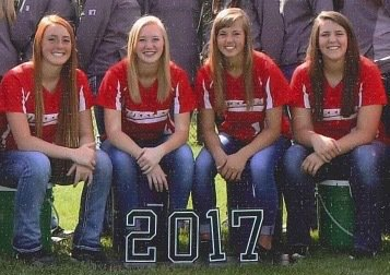 Audubon softball seniors 2017